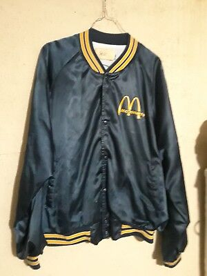Vintage McDonald's Employee Snap Up Bomber Jacket Golden Arches Collectible XL