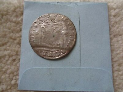 1886 Netherlands 6 Stuivers silver coin