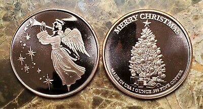 Christmas Angel 1oz. Pure Copper Bullion Round!!