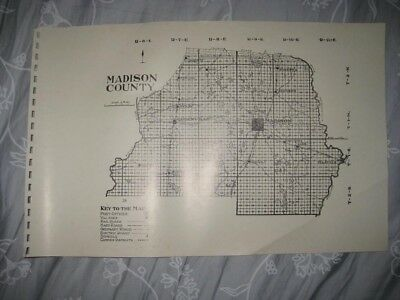 Antique 1914 Madison County Florida Map 1987 Edition Greenville Railroad Early N