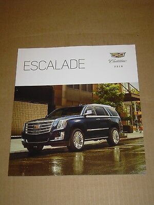 2018 Cadillac Escalade Brochure Mint! 50 Pages