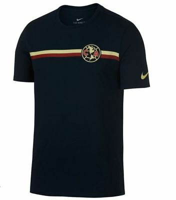Nike Club America 2018 - 2019 Poly Crest Soccer Shirt New Navy Blue f644c48ce