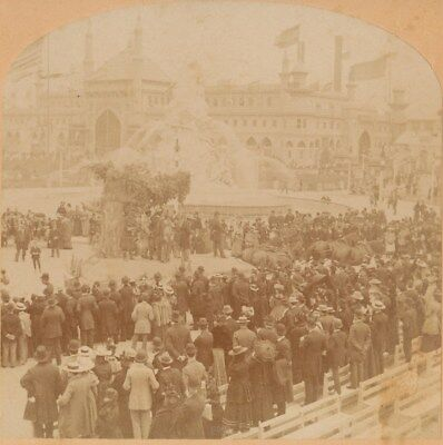 Pioneer Float 1894 California MidWinter Fair Exposition San Francisco Stereoview