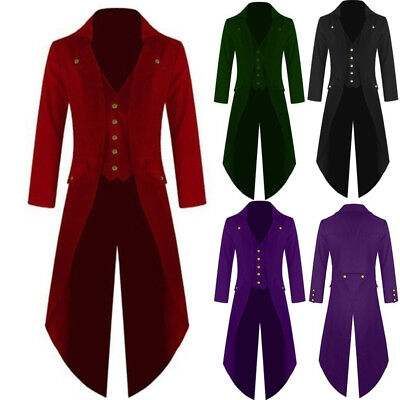 Victorian Steampunk Swalow Gothic Mens Tailcoat Jacket Ringmaster Tail Coat NEW
