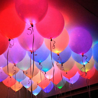 2/10pcs LED Balloons Light Up Balloons PARTY Decoration Wedding Birthday NEW
