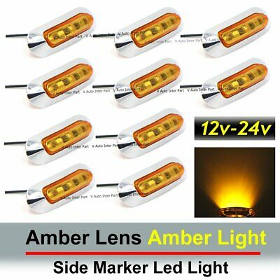 10x Amber SMD LED Side Marker Tail Light Clearance Lamp Truck Trailer 12V 24V