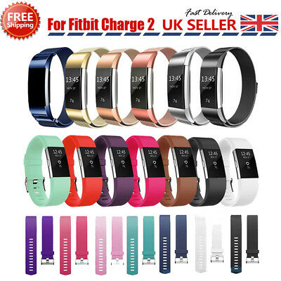 For Fitbit Charge 2 Strap Replacement Milanese Band Stainless Steel Magnet ☆UK☆