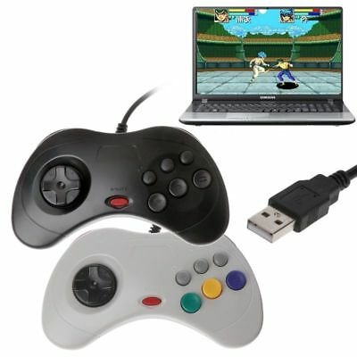 USB Gamepad Controller Classic Wired Game Controller Joypad for Sega Saturn PC