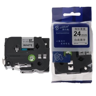 Black on White Label Tape Ruban Compatible for Brother Tape 24mm tz251 tze251