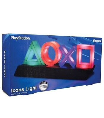 Official PlayStation 4 Icons Light PP4140PS - NEW & SEALED Licensed Lamp Night