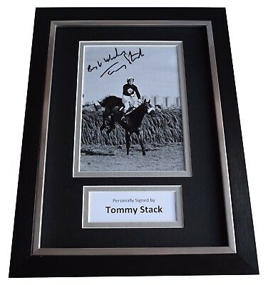 Tommy Stack Signed A4 Framed Autograph Photo Display Red Rum Grand National COA