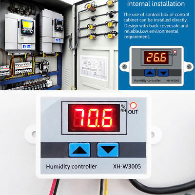 XH-W3005 AC 220V LED Digital Humidity Controller Hygrometer Switch Sensor 1500W