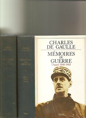Charles de Gaulle, Memoires de Gaulles  Plon, Paris. 3 volumes in French