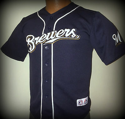 Milwaukee Brewers Ryan Braun Majestic Youth Medium/large Jersey Free Shipping