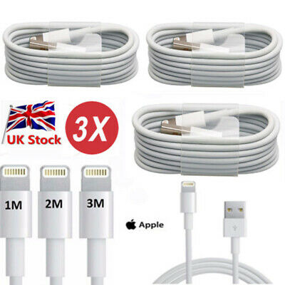 Extra Long USB Cable for Apple iPhone 7 6 6s 5 5C 5S Charger Extension Lead UK