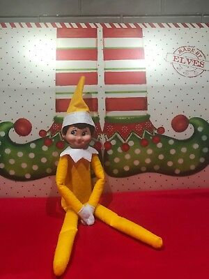 Plush Christmas Yellow Elf, Female Elf - Doll Only