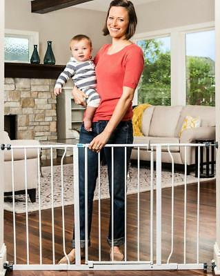 Easy Open 50 Inch Wide Baby Gate, Bonus Kit, Includes 6 & 12-Inch Extension Kit