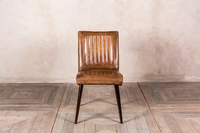 Wondrous Epsom Ribbed Leather Dining Chairs Vintage Style Leather Andrewgaddart Wooden Chair Designs For Living Room Andrewgaddartcom