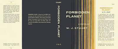 Stuart FORBIDDEN PLANET facsimile dust jacket for the first edition book