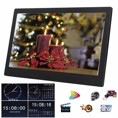 "HD TFT LCD 12"" Digital Photo Frame LED Picture Video Player Remote"