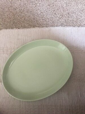 """Russel Wright Iroquois Casual Lettuce Green Large Platter. 13"""" X 9 1/2"""""""