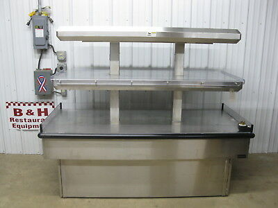 Royston Twin Tier Island Stainless Hot Food Merchandiser Heated Display Case 6'