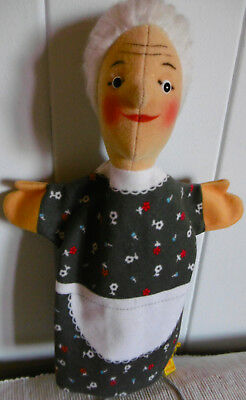 alte Steiff Handpuppe  Oma   Hand -Grandmother  Kasparletheater KF  7025/28