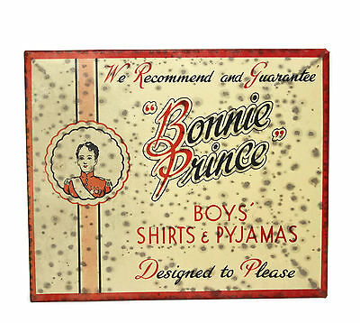 Vintage English Bonnie Prince Clothing Pyjamas Country Store Advertising Sign