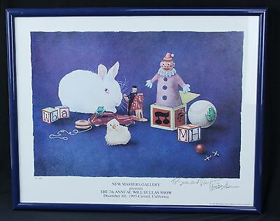 1993 Will Bullas Print 7th Annual Show New Masters Gallery Pencil Signed Framed