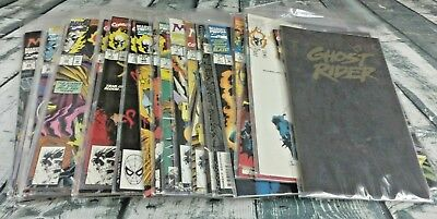 Lots Of 33 Ghost Rider Comic Books Marvel Includes Rise Of The Midnight Sons Run