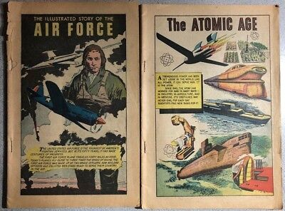 CLASSICS ILLUSTRATED lot The Atomic Age & Illustrated Story Air Force  coverless
