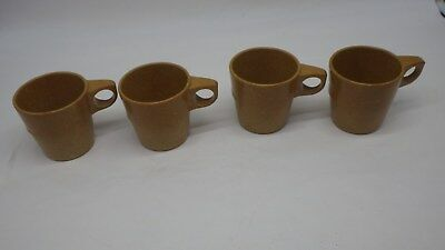 4 NEW US Military Mess Hall Coffee Cups Halsey Stacking Melmac USS Kearsarge