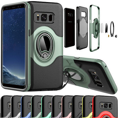 Magnet Phone Case With Ring Stand Holder For Samsung Galaxy S7 edge S8 S9+ Plus