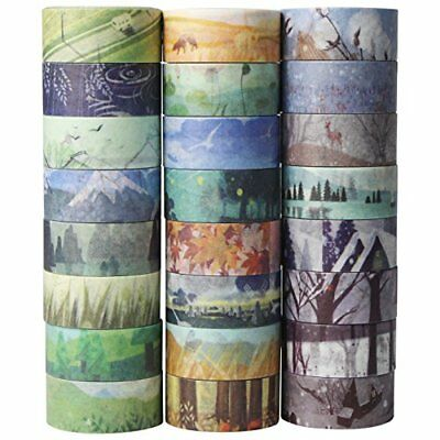 24 Rolls Washi Tape Set - Spring Summer Autumn Winter Theme Masking Sticker Tape