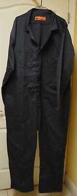 RED KAP Mens size 52 RG Gray Poly/Cotton Zip Front Mechanics Work Coveralls