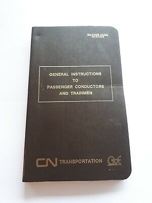 CN Canadian National Train Conductors And Trainsmen Manual Book English And...