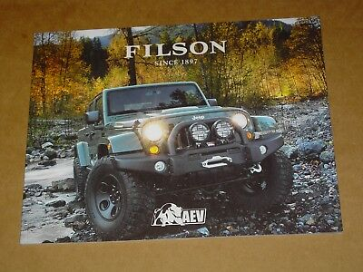 2018 Aev Filson Jeep Renegade Brochure Mint! 20 Pages Wrangler Brute Double Cab