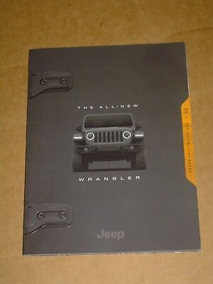2018 Jeep All-New Wrangler Sales Brochure Mint! 104 Pages