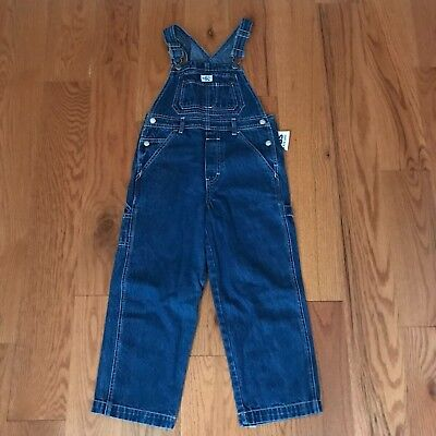 "Vintage Kids Boys Calvin Klein Denim Bib Overalls Size Large 20 1/2"" Inseam NEW!"