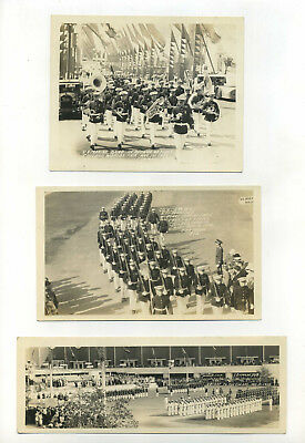 28 Vintage Photo Lot (9) USMC at Chicago Worlds Fair 1933 Band Soldiers