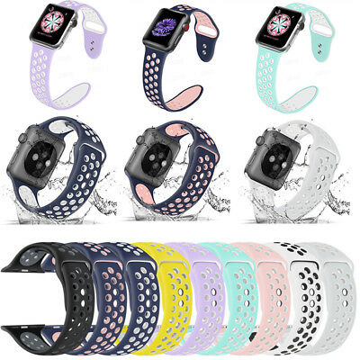 Replacement Silicone Sport Band Strap 40mm 44mm For Apple Watch 5/4/3/2 iWatch