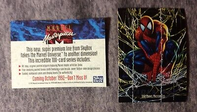 Spider-Man Marvel Masterpieces 1992 Skybox Prototype Promo Card #405