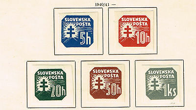 Slovakia WW2 German Protectorate Coat of Arms set 1940 MLH