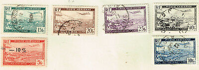 Algeria Aviation Aircrafts over Country Airmail set 1941