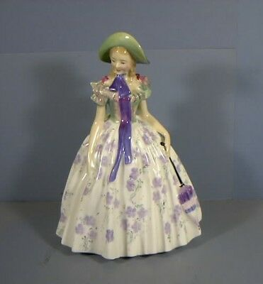 """7"""" Figurine, Titled, Easter Day, HN1976, By Royal Doulton, COPR.1945, Estate Col"""