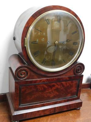 thwaites and reed clerkenwell london mahogany double fusee bracket clock