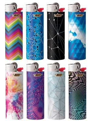 New BIC Special Edition Geometric Series Lighters, Set of 8 Lighters