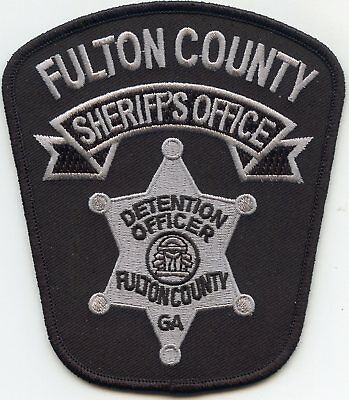 Fulton County Georgia Ga Doc Corrections Detention Officer Sheriff Police Patch