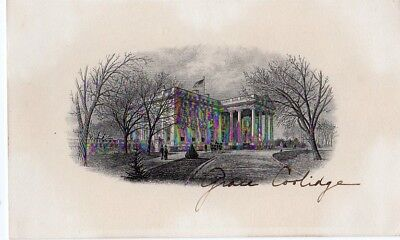 First Lady Grace Coolidge White House Signature Card