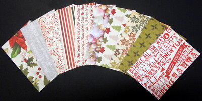 "Double-sided Christmas Scrapbooking/Cardmaking Papers ~15cm x 10cm (6 ""X 4"")"